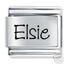 ELSIE Name - Daisy Charm by JSC Fits Classic Size Italian Charms Bracelet