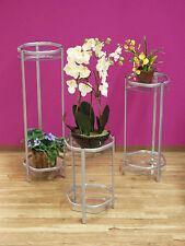 Blumenständer Blumen Ständer Pflanzenschale Pflanzenständer 3er Set Glas