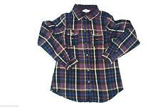 Karierte Mädchen-Tops, - T-Shirts & -Blusen aus 100% Baumwolle mit Langarm