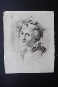FRENCH NEOCLASSICAL SCHOOL CA. 1800 - FINE PORTRAIT OF A WOMAN - CHARCOAL