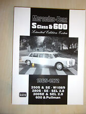 Mercedes S-Class 600 Limited Edition Extra Book Buy Guide HISTORY EVO data 65-72