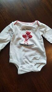 Newborn Baby Girl Valentine Shirt Bodysuit First Valentines Day