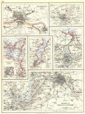 GERMANY. Berlin Potsdam Frankfurt Munich Szczecin Kiel Gdansk Danzig 1897 map