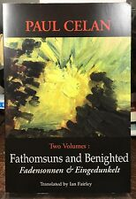 Trade PB Fathomsuns and Benighted-Poetry by PAUL CELAN German/English 2001