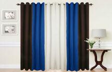 Rideaux et cantonnières bleu avec des motifs Rayé polyester pour la maison