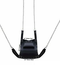 Heavy Duty Play Room Black Leather Sex Sling Adult Swing Stirrups Mountable