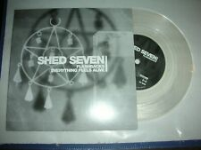 "SHED SEVEN - FLASHBACKS / EVERYTHING FEELS ALIVE...CLEAR  7"" VINYL - MINT !"