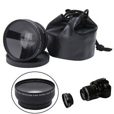 52mm 0.45X Fisheye HD Wide Angle Macro Lens for Nikon D3200 D3100 D5200 D5100