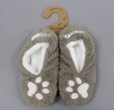 Faceplant Dreams Women's Footsies I Sleep With Dogs Slipper Taupe Medium (7-8)