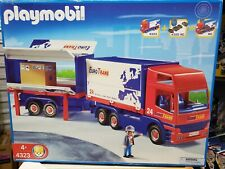 NEW Playmobil Euro Trans City Car Truck And Removable Trailer #4323