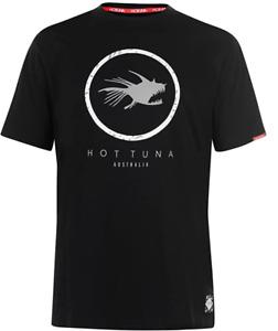 HOT TUNA Mens Black T-Shirt Circle Logo Crew Neck Tee Top Size Small BNWT