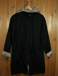 Mycra Pac Now size L Reversible Hooded Rain Coat black tan/blush