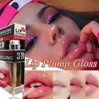 Shiny Lip 3D Sexy Super Volume Plumper Plumping Lip Gloss Doll Pink Super B4V6