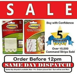3M Command Strips Self Adhesive Damage Free Wall Hanging Picture Frames Posters