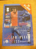 21/11/1995 Birmingham City v Derby County  (Creased, Worn). Trusted sellers on e