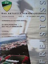 Programm 2004/05 SV Braunsbedra - Halle Ammendorf