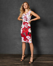 Ted Baker Saafi IGUZA  2018 two tone floral  pencil dress Ted 2 10 38 Us 6 BNWT