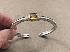 """HSN Sterling Silver 925 Citrine with Gold accents size 7"""""""