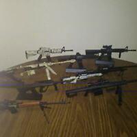 VARIOUS RIFLES 1/3 1:3 Scale Model Replica Miniature Mini Gun Guns Non-Firing