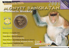 The Endangered Species - Proboscis Monkey Education Coin Card.- 2003