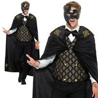 Phantom of the Opera Masquerade Costume Halloween Adult Mens Fancy Dress Outfit