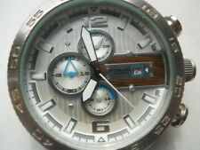 Fossil chronograph men's blk rubber quartz,battery & Analog dress watch.CH-2558