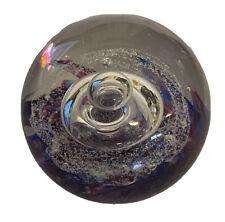 """WOW! Selkirk Scotland 1995 """"Spellbound"""" Spiral Studio Art Glass Paperweight"""