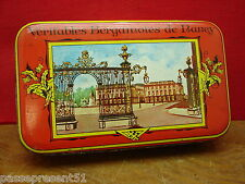 Jolie ancienne boîte en tôle, Bergamotes de Nancy