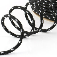 BLACK Polypropylene Braided Plaited Poly Rope Cord Yacht Sailing Price Per M