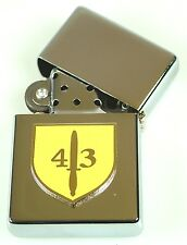 43 COMMANDO ROYAL MARINES  WINDPROOF CHROME PLATED LIGHTER