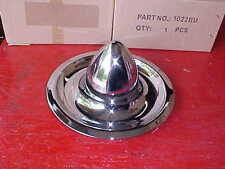old school style chrome bullet center caps for corvette rally wheels/etc rat rod