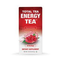 Total Tea Energy Tea 2 | 100% Natural | Better Focus & Energy | 25 sealed teabag