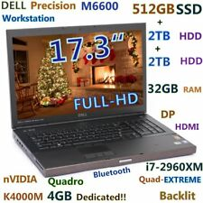 "DELL M6600 17.3"" FHD K4000M 4GB i7-EXREME (512GB-SSD+2TB+2TB) 32GB Backlit"