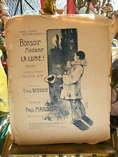 Partition Bonsoir Madame la Lune Paul Master Music Sheet