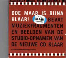 Doe Maar-Is Bijna Klaar Promo cd maxi single Cardsleeve