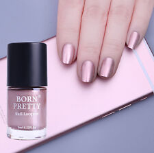 Rose Gold Mirror Effect Chrome Metallic Nail Art Varnish Polish BORN PRETTY