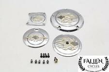 05 Harley Electra Glide Ultra Classic FLHTCUI Air Cleaner Derby Gas Lid Covers