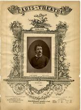 Lemercier, Paris Theatre, Masini vintage print Photoglyptie  9x13  Circa 1