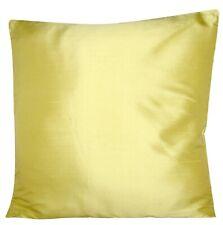 Designers Guild Pure Silk Dupion Yellow Plain Cushion Cover