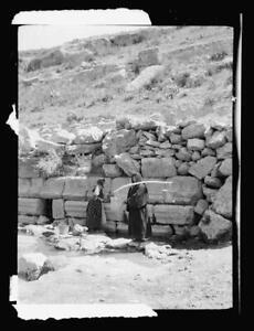East of the Jordan,the Dead Sea,Circassian women at fountain,Jerash,Gerasa 7783
