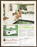 1955 Youngstown Steel Kitchens Print Ad The Fresh Look