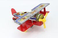 Vintage Tin Toy Airplane 7'' Plane Plastic Wind Up Toy Priftis GREECE 70'S