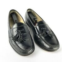 Cole Haan Pinch Smooth Dress Loafers Mens Sz 10 Black Moc Toe Tassel Shoe c03506