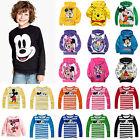 Unisex Toddler Kids Boys Girls Mickey Minnie Sweatshirt Hoodies Pullover Tops
