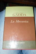 GADDA Carlo Emilio La Meccanica Milano Garzanti 1970