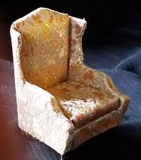 "Vintage PETITE PRINCESS 'Fantasy Furniture' 3.25"" Salon Wing Chair IDEAL Japan"