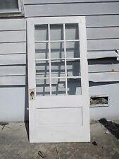 Exterior Antique Wood Door 12 Panes Of Glass 40 X 83 1/2