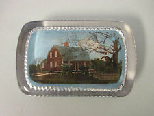 "4"" x 2-5/8"" Vintage Glass Block Paperweight BETSY WILLIAMS COTTAGE PROVIDENCE RI"