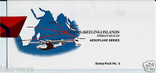Cocos Islands Keeling Aeroplane Series 5 Stamps Packet Taa 727-Electra-Catalina
