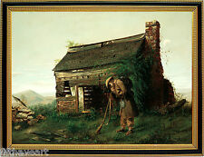 Civil War Art Henry Mosler Lost Cause Painting Print with Gold Frame